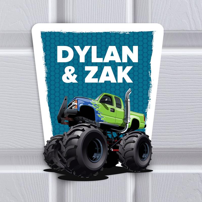 Bedroom Monster Truck - UK Sign Shop
