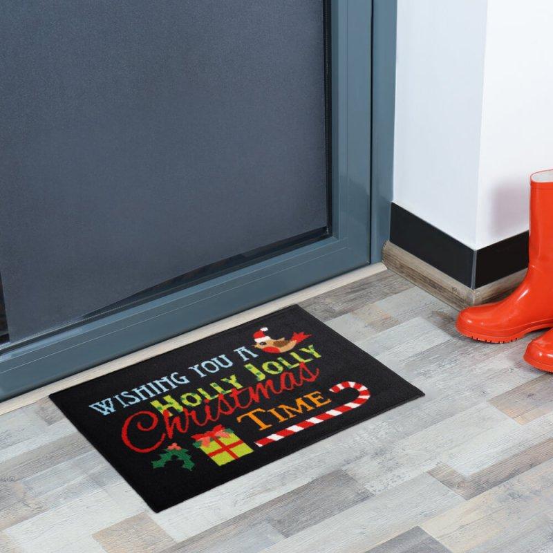 Holly Jolly Christmas Doormat