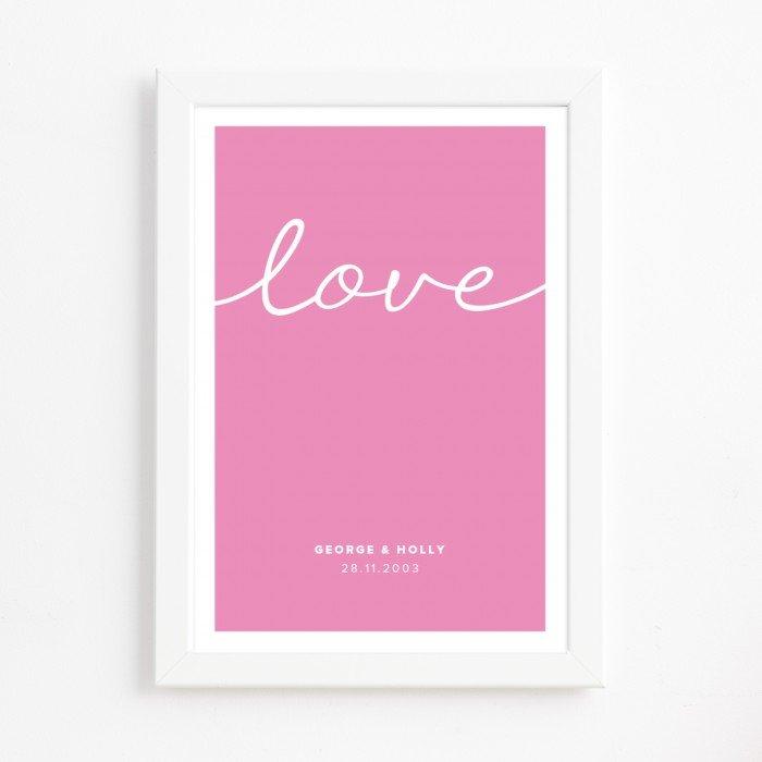 Handwritten Love Print