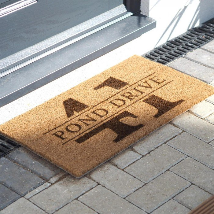 Coir Door Mat With Street Name