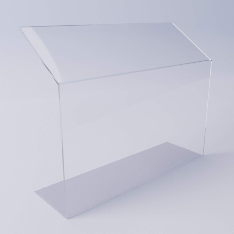 Acrylic free-standing countertop sneeze guard for food
