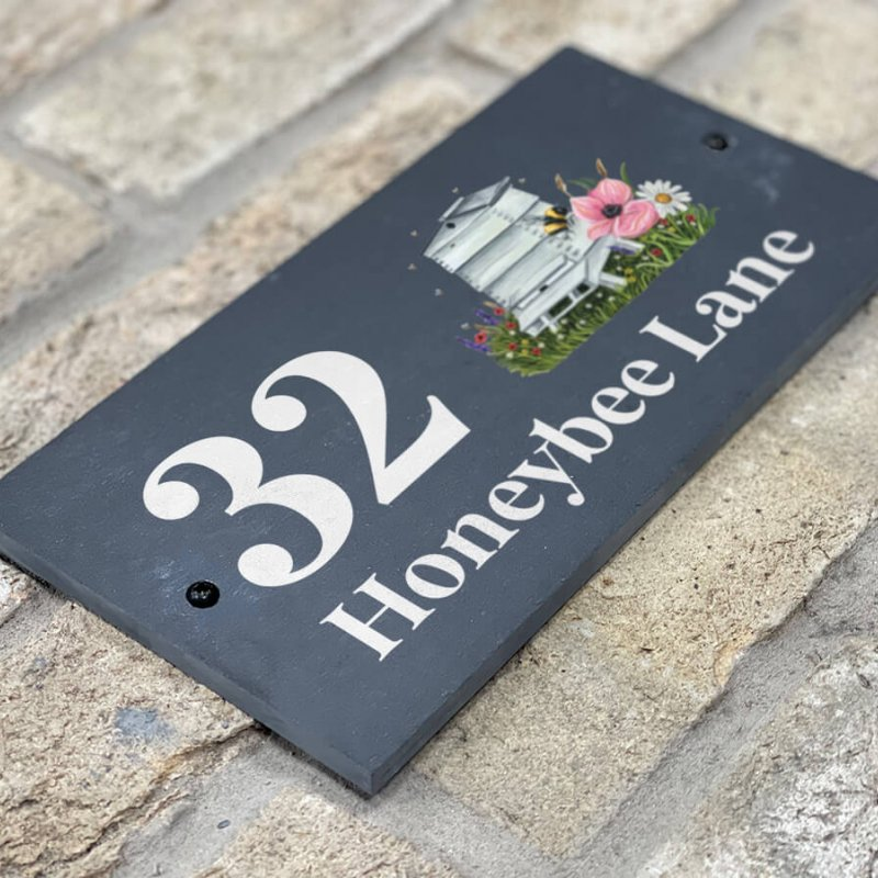 Honeybee Slate Sign