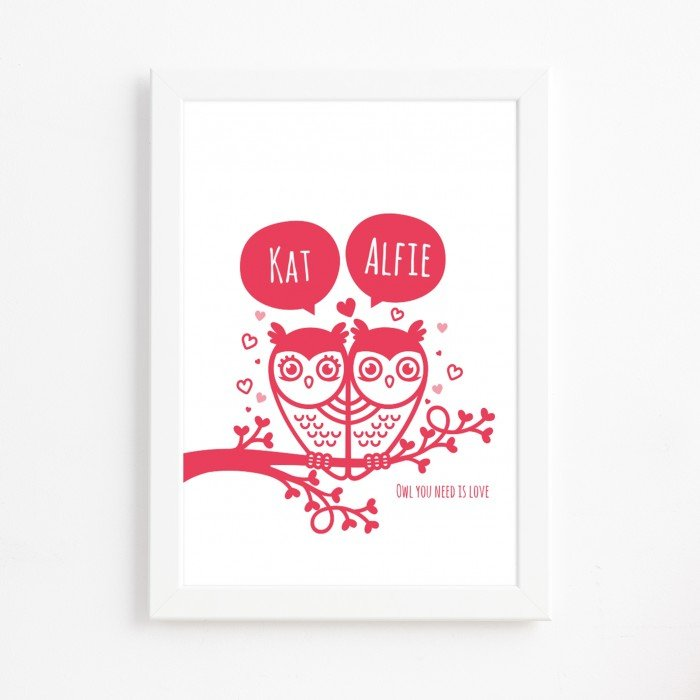 Owl You Need Is Love Print