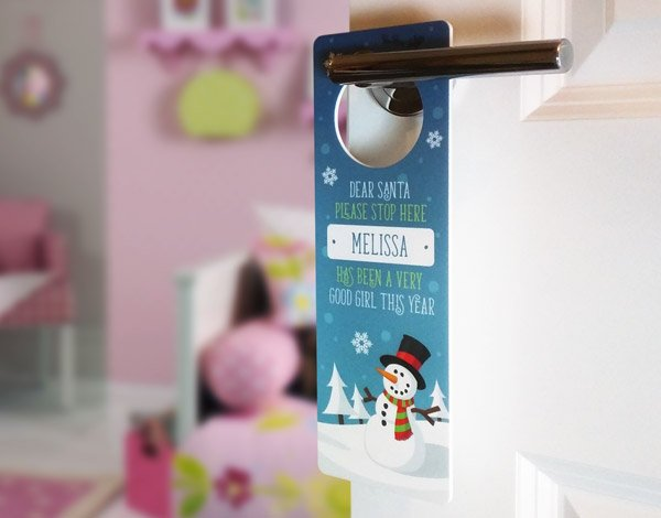 Snowman Door Hanger live preview