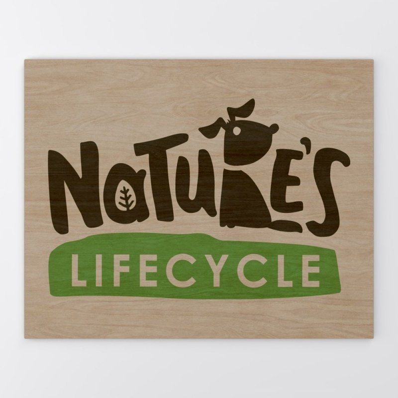 Wooden Panel with Printed Logo Sign