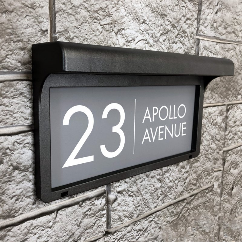 Apollo LED Solar House Sign live preview