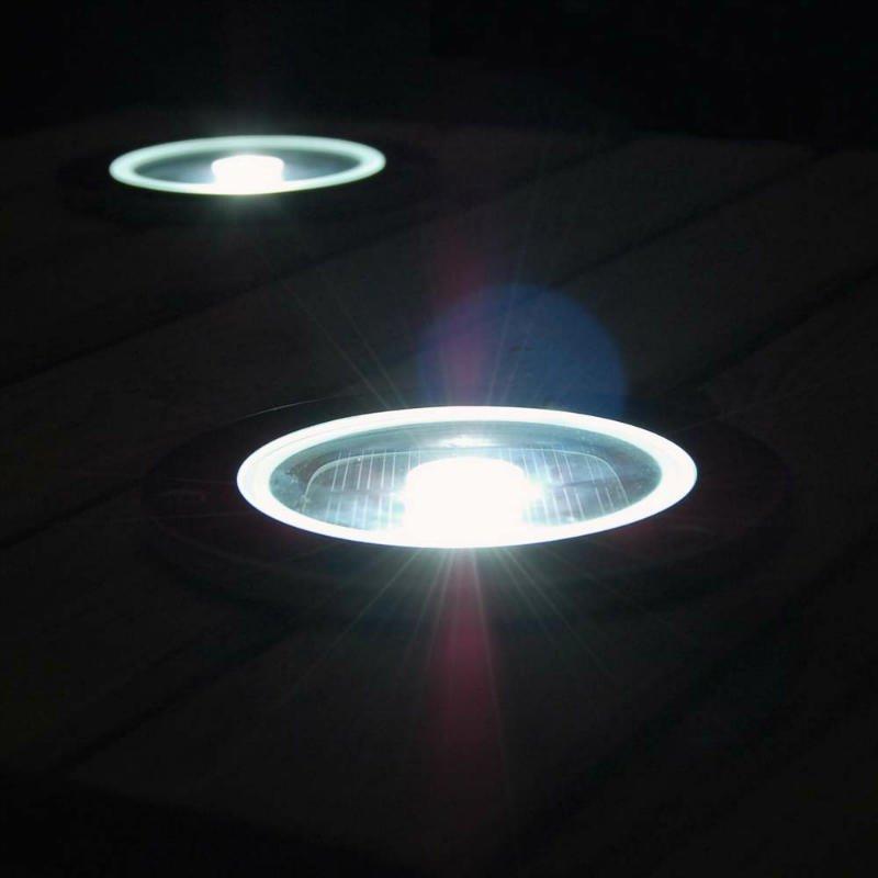 Solar Round Decking Light