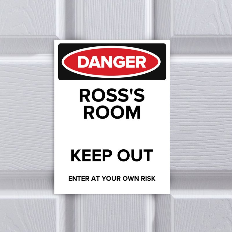 Bedroom Danger Card