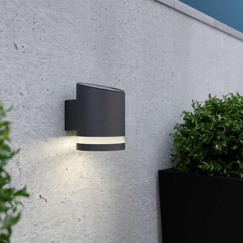 Truro Solar Wall Light - Anthracite Grey
