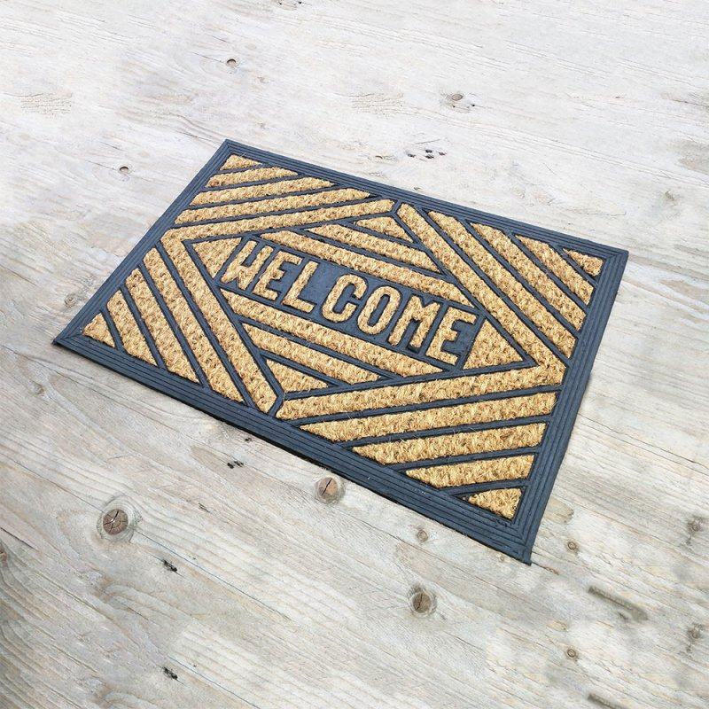 Welcome Coir and Rubber Door Mat