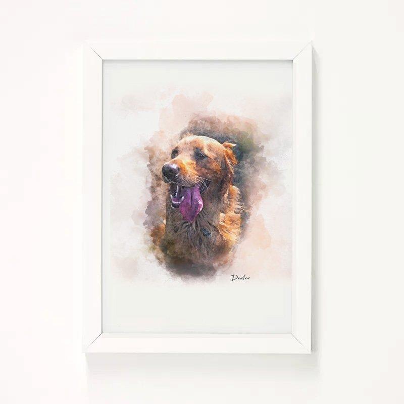 Personalised Pet Portrait Illustration