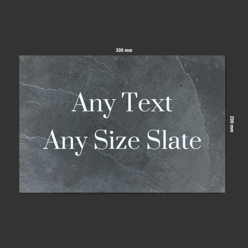 Any Size Slate Sign live preview