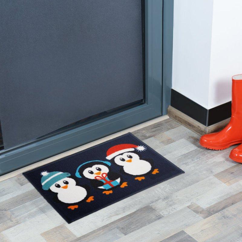 Penguins Christmas Doormat