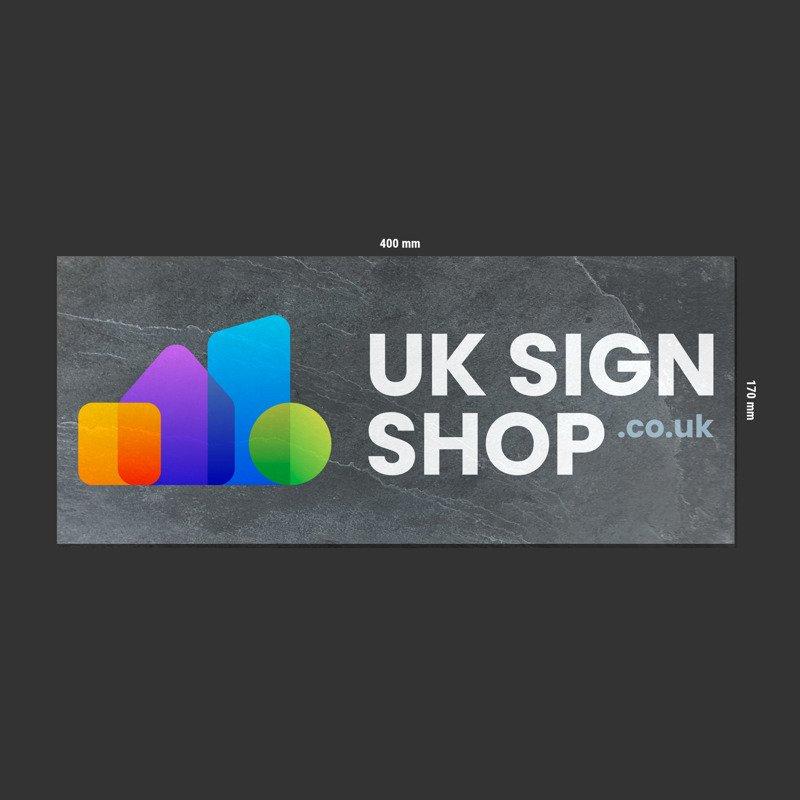 Any Size Printed Logo Slate Sign