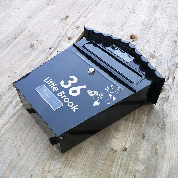 Personalised Black Letterbox