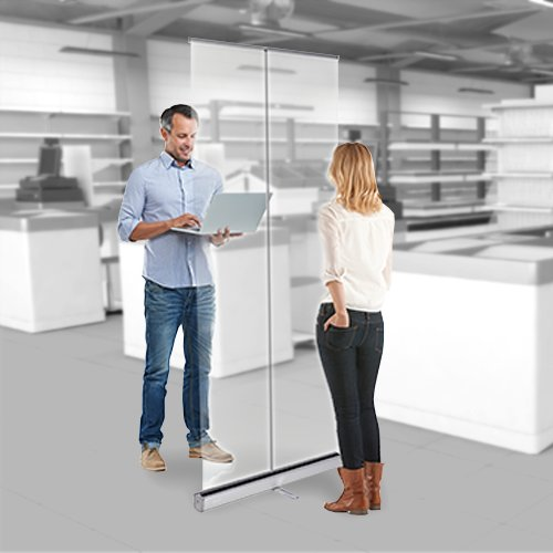 Freestanding Clear Protection Screen live preview