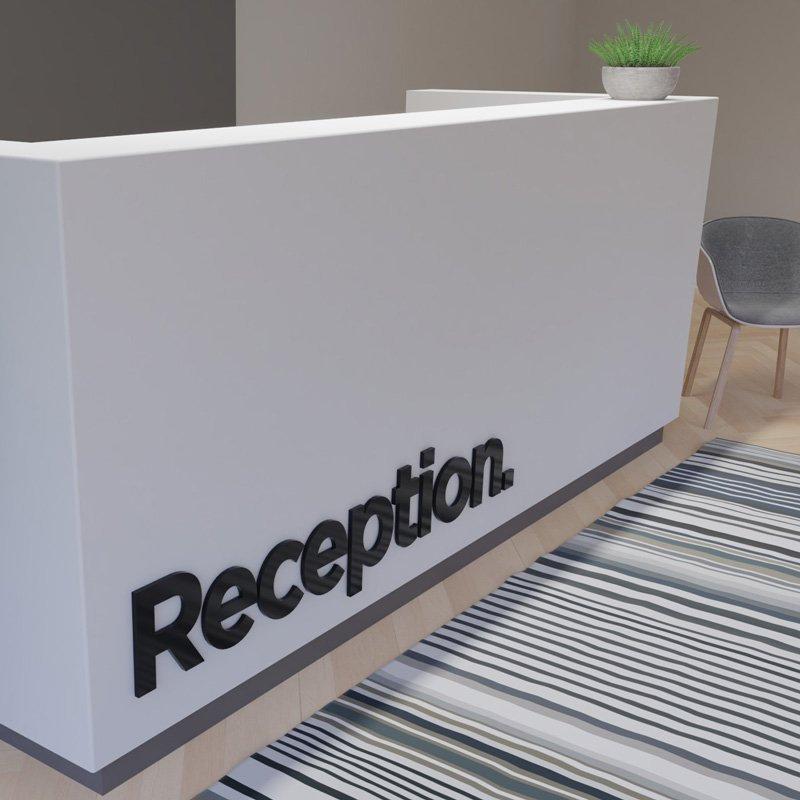 Reception Laser Cut Text Sign
