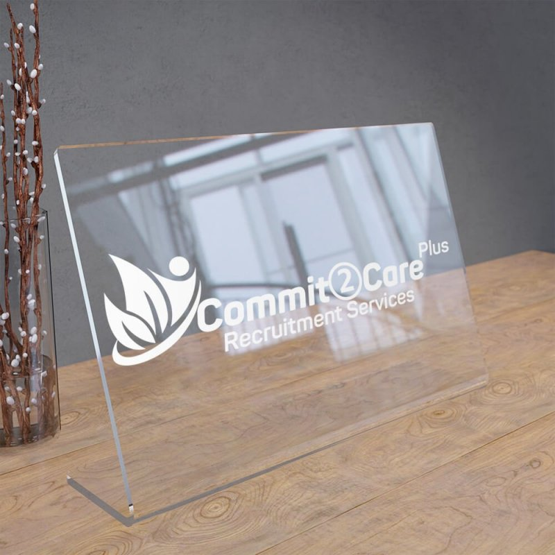 Freestanding Acrylic Desk Sign