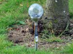 Colour Change Crackle Glass Solar Light