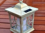 Wooden Effect Candle Lantern Solar Light