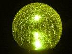 Colour Change Crackle Glass Solar Light