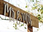 Mr & Mrs Wooden Bunting Wedding Sign