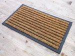 Striped Coir and Rubber Door Mat