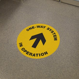 One Way System, internal circular floor graphics