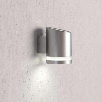 Truro Solar Wall Light - Silver