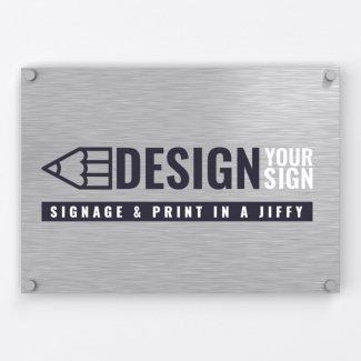 Brushed Aluminium Single Layer Panel