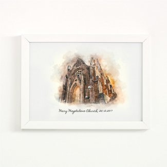 Personalised Church Illustration