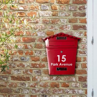 Personalised Red Letterbox