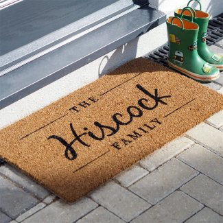 Personalised Family Name Door Mat