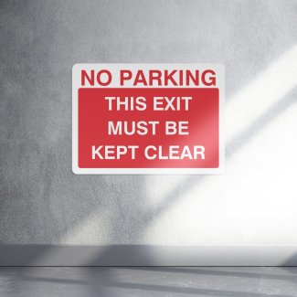 No parking this exit must be kept clear sign