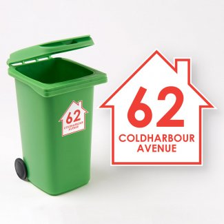 House Wheelie Bin Sticker