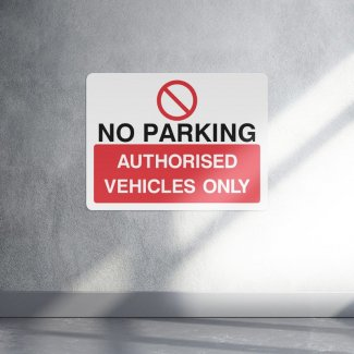 No parking authorised vehicles only parking sign