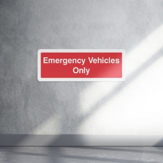 Emergency vehicles only sign - landscape