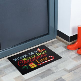 Holly Jolly Christmas Doormat