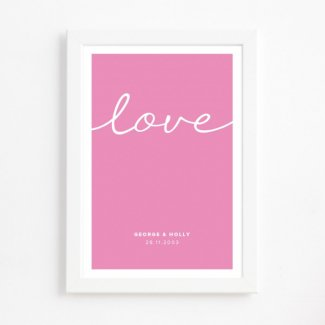 Handwritten Love Print