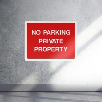 No parking private property sign - landscape