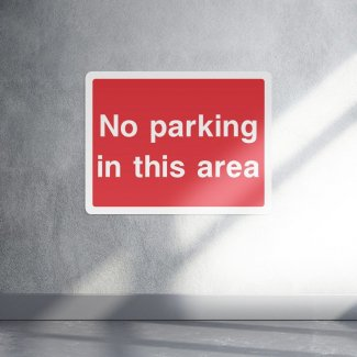 No parking in this area parking sign