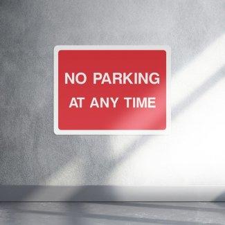 No parking at any time parking sign - landscape