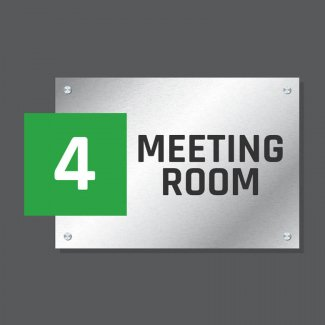 Acrylic & Aluminium Stack Sign