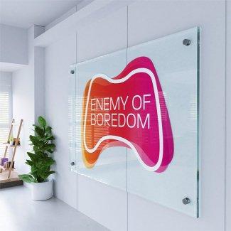 Digitally Printed Logo on Clear Acrylic