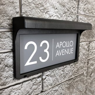 Apollo LED Solar House Sign