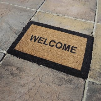 Welcome Coir Rectangular Door Mat