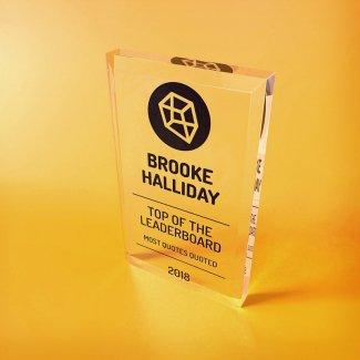 Acrylic Freestanding Trophy