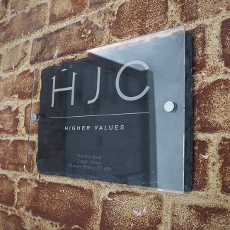 Logo on Slate and Acrylic Sign