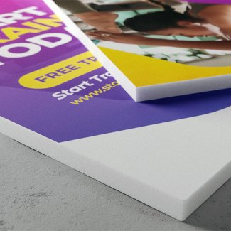 White printed Foamex sign