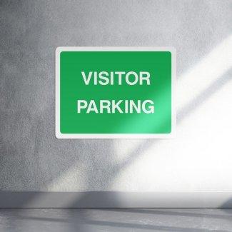 Visitor parking information sign - landscape